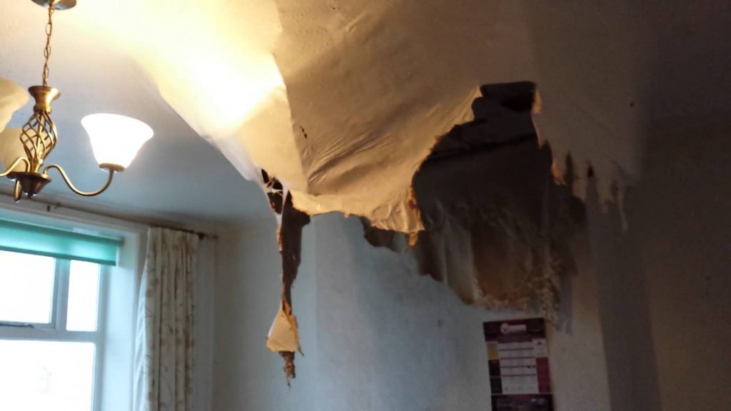 burst pipe in wall