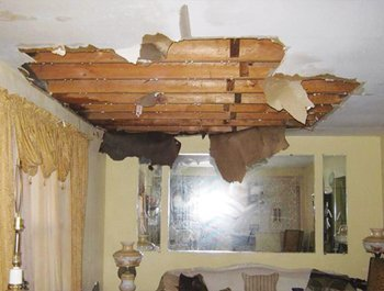 ceiling fell from water damge