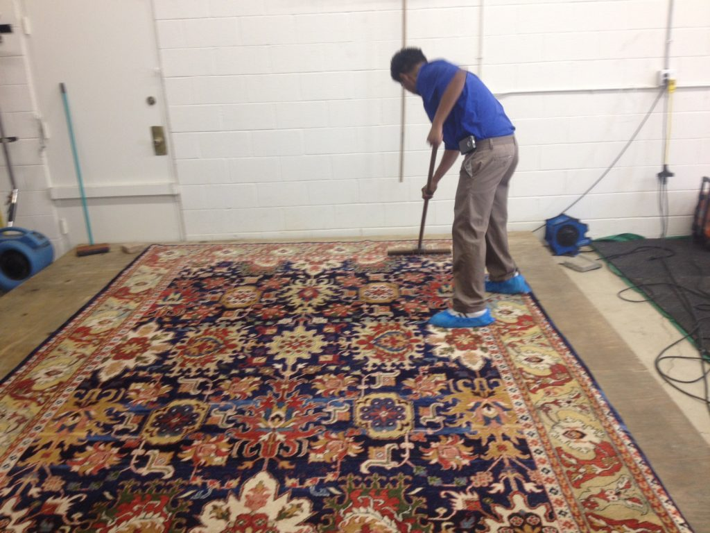 cleaning of rug process