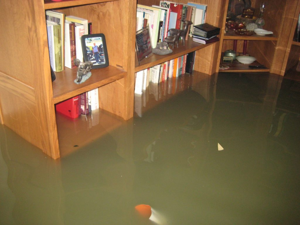 flooded contaminated water