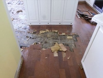 kitchen floor damge